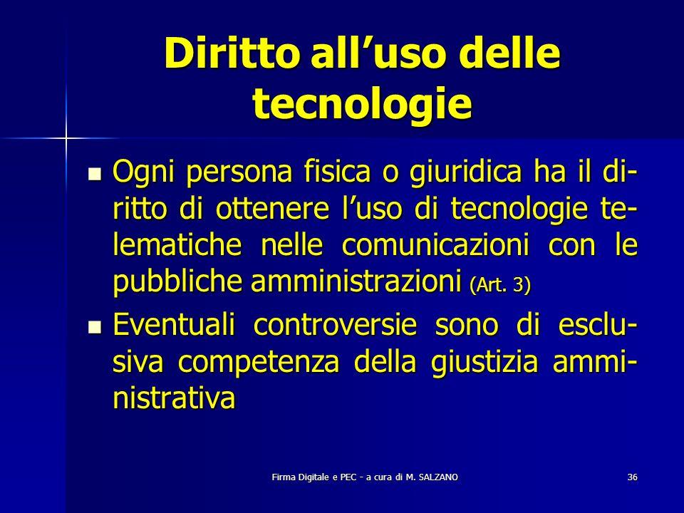 Diritto all'uso delle tecnologie