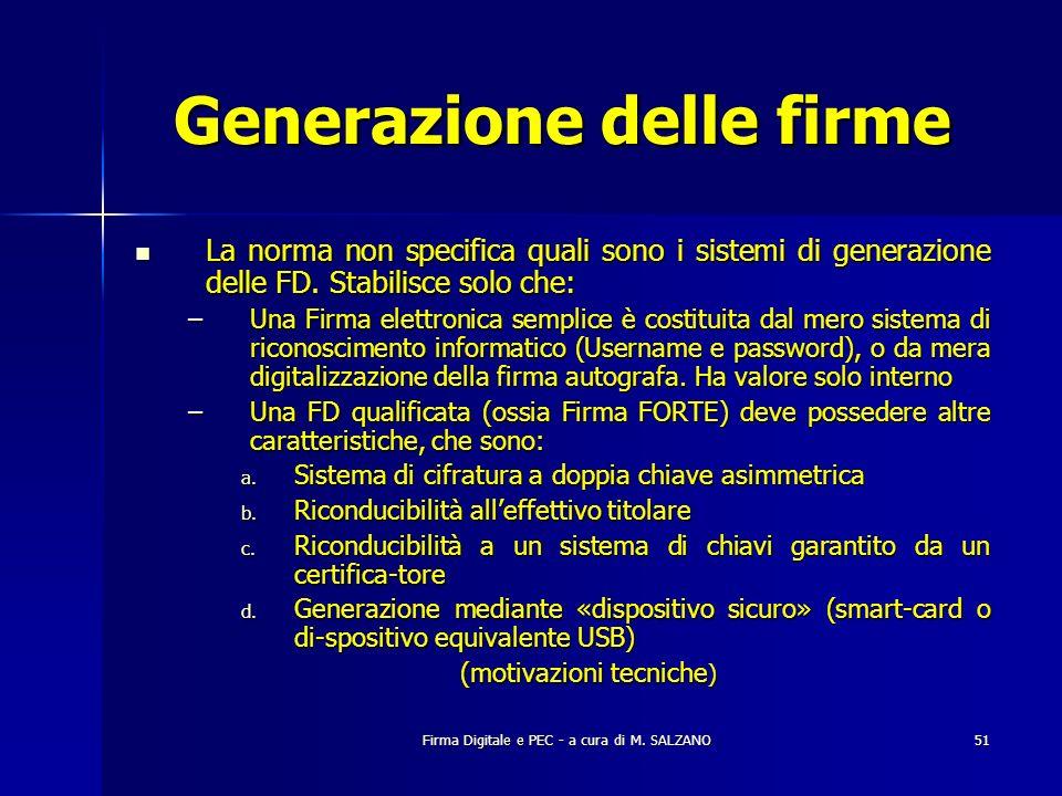 Generazione delle firme