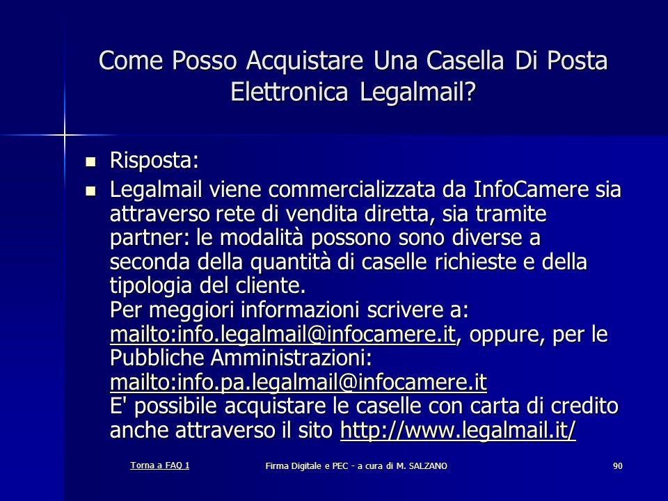 Come Posso Acquistare Una Casella Di Posta Elettronica Legalmail