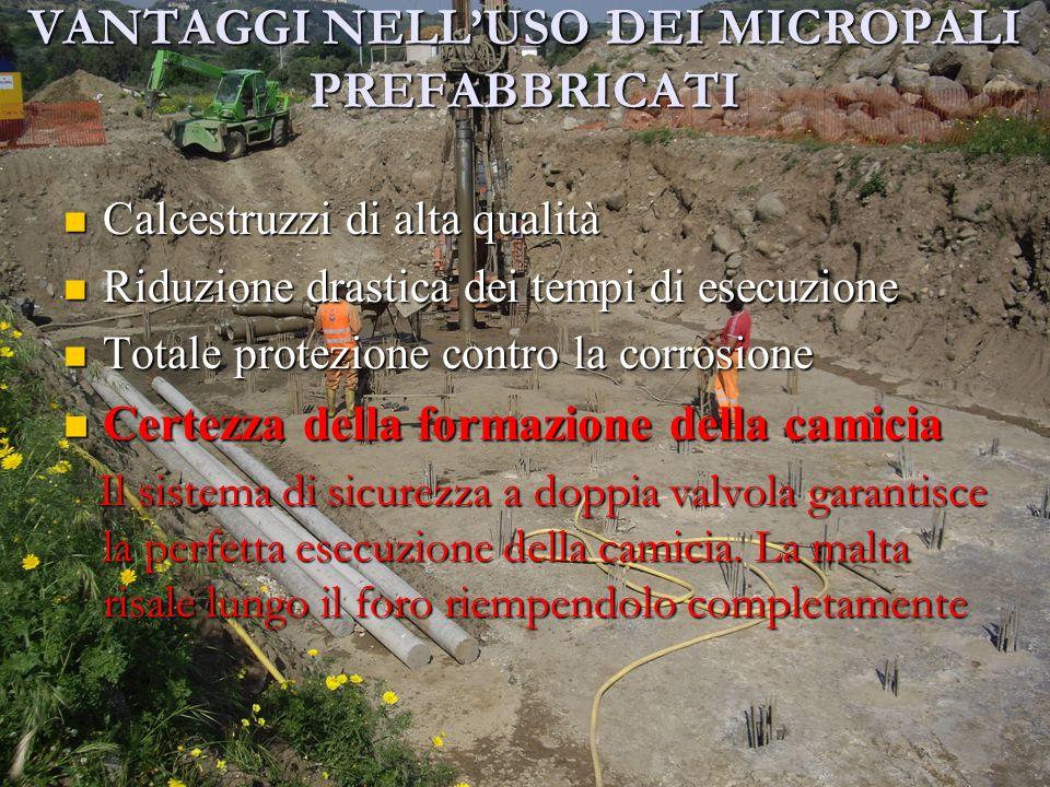 VANTAGGI NELL'USO DEI MICROPALI PREFABBRICATI