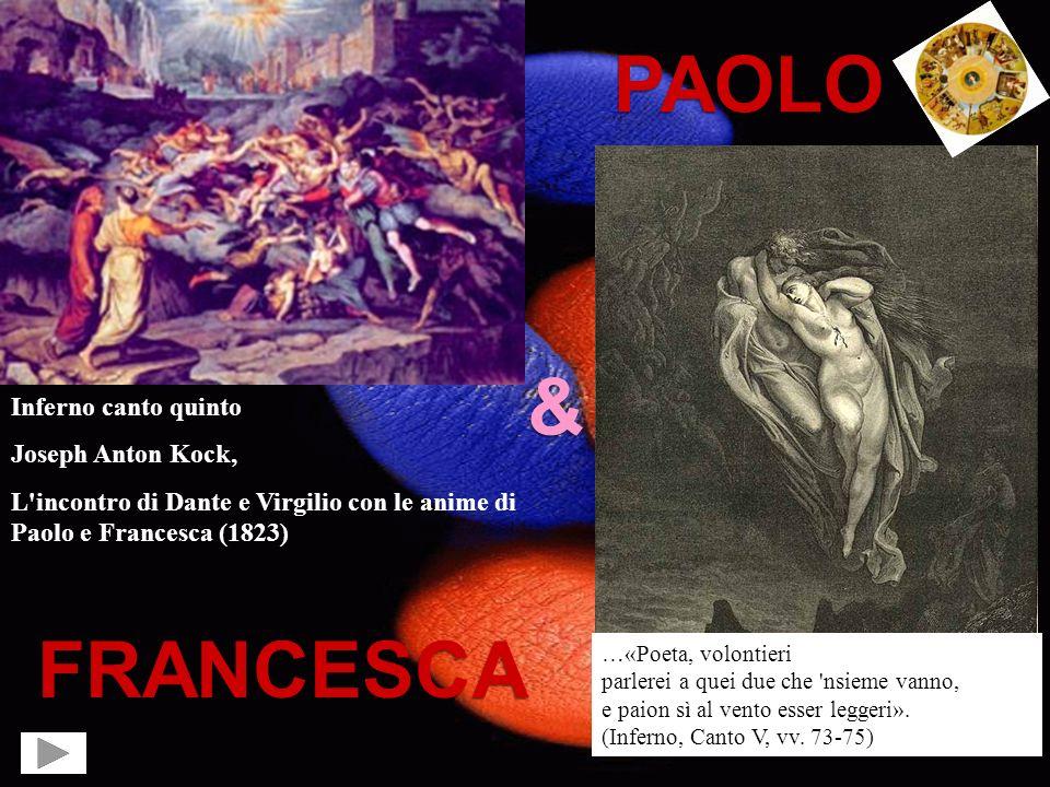 PAOLO & FRANCESCA Inferno canto quinto Joseph Anton Kock,