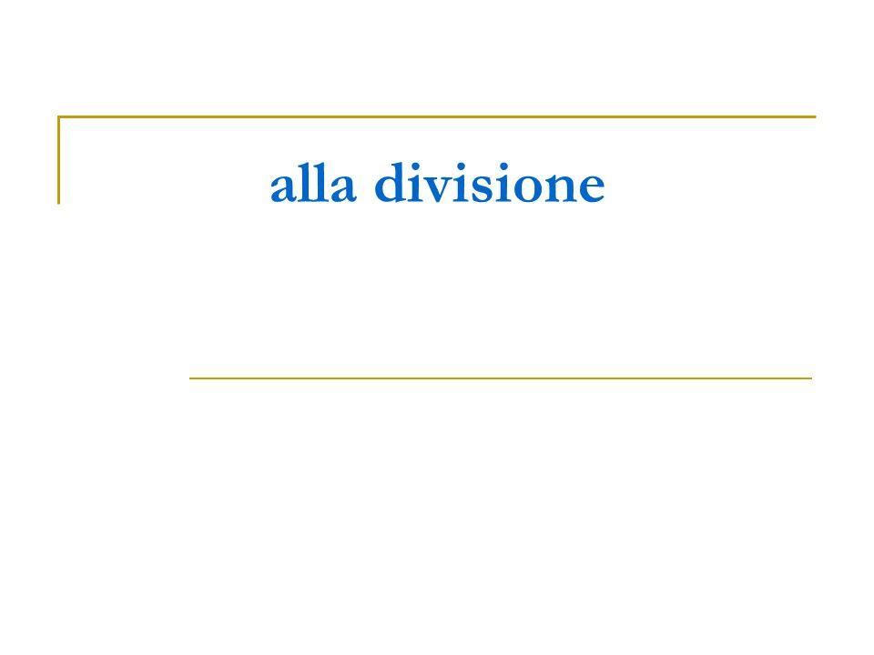 alla divisione