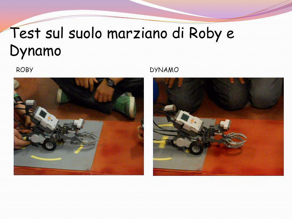 Test sul suolo marziano di Roby e Dynamo