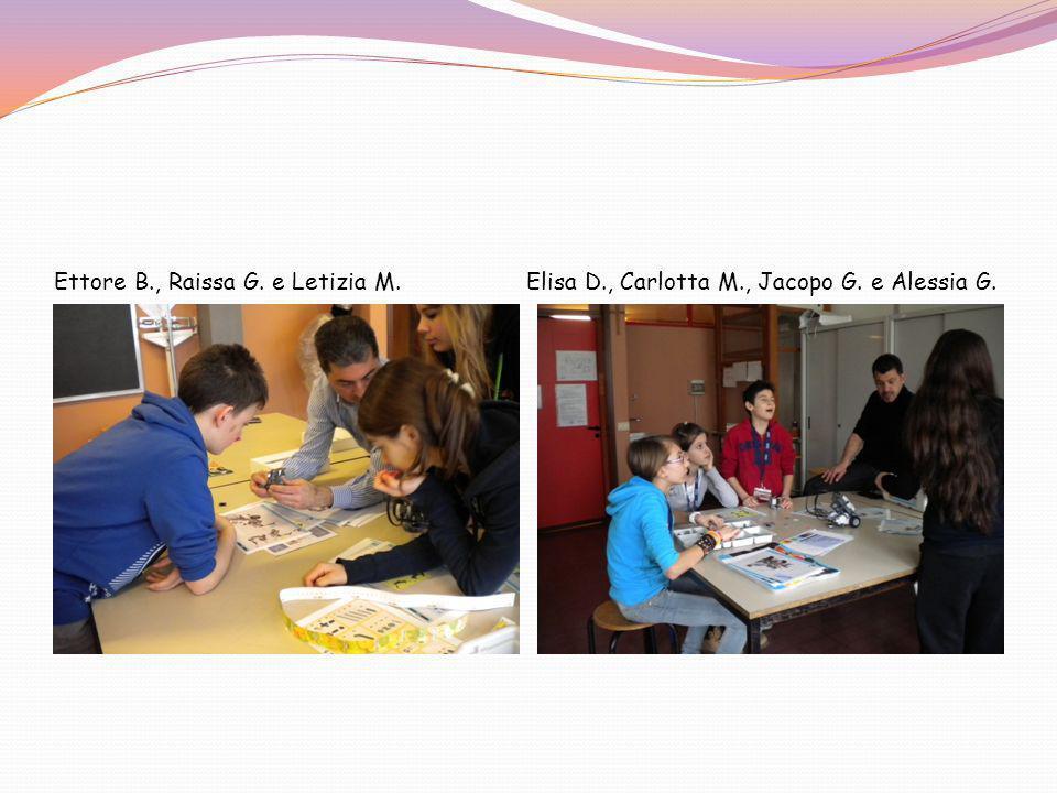 Ettore B. , Raissa G. e Letizia M. Elisa D. , Carlotta M. , Jacopo G