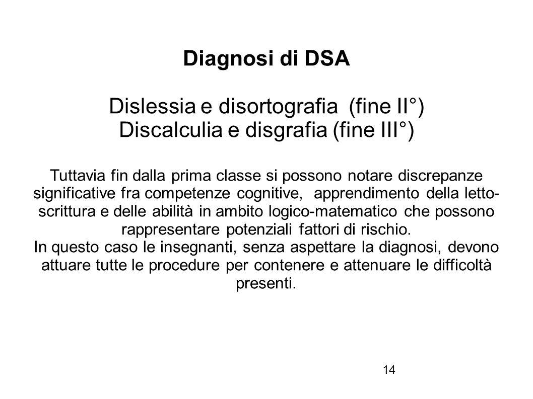 Dislessia e disortografia (fine II°)