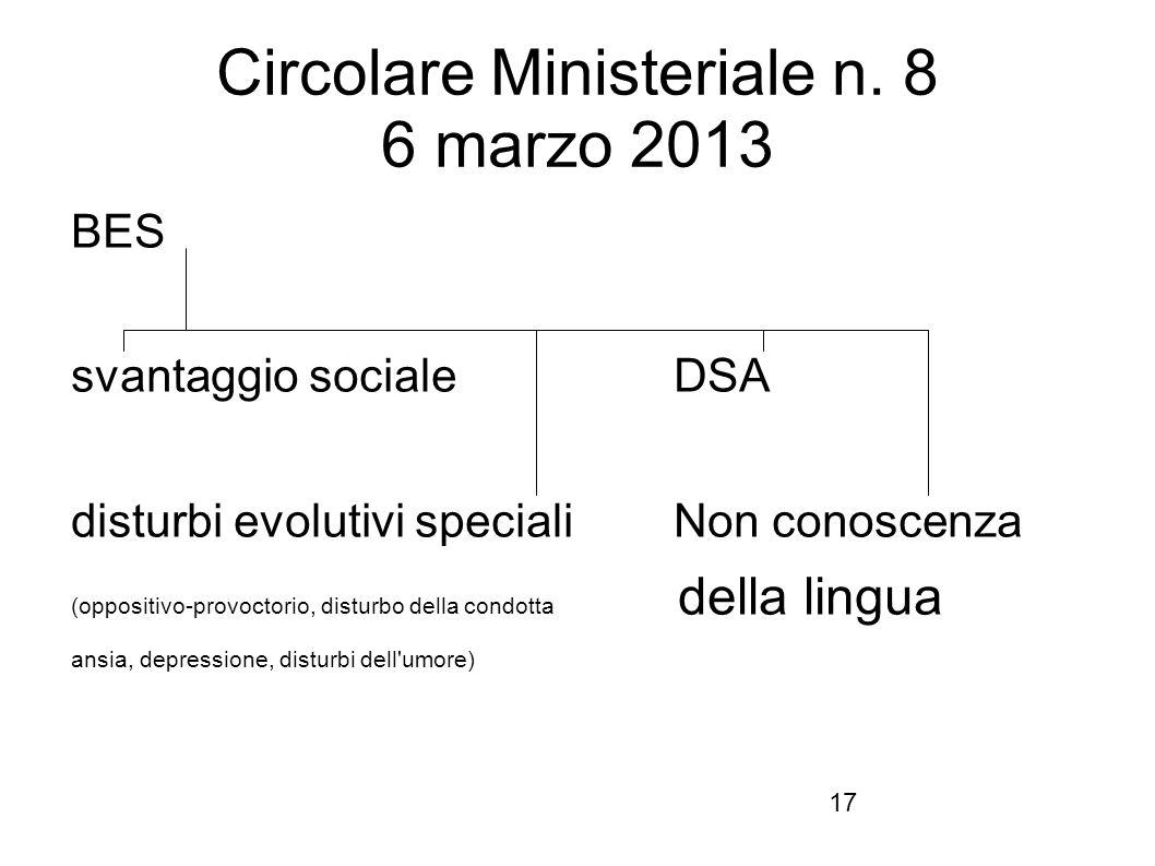Circolare Ministeriale n. 8 6 marzo 2013