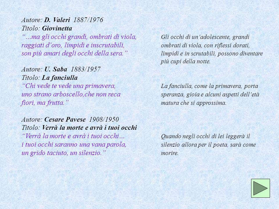 Autore: Cesare Pavese 1908/1950