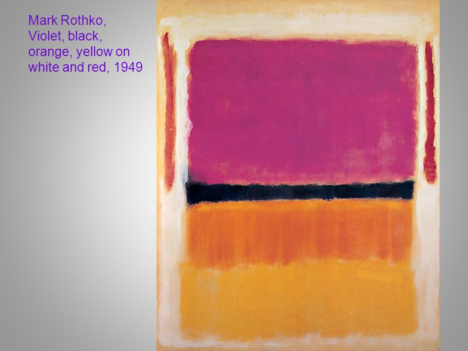 Mark Rothko, Violet, black, orange, yellow on white and red, 1949
