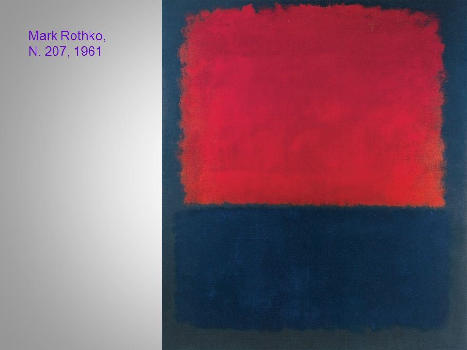 Mark Rothko, N. 207, 1961