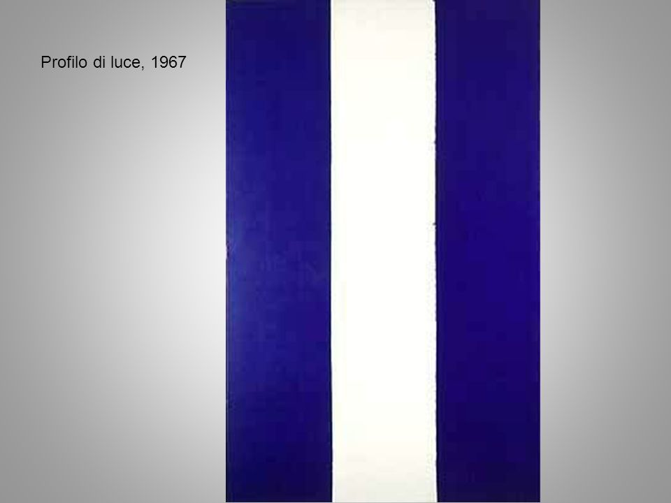 Profilo di luce, 1967