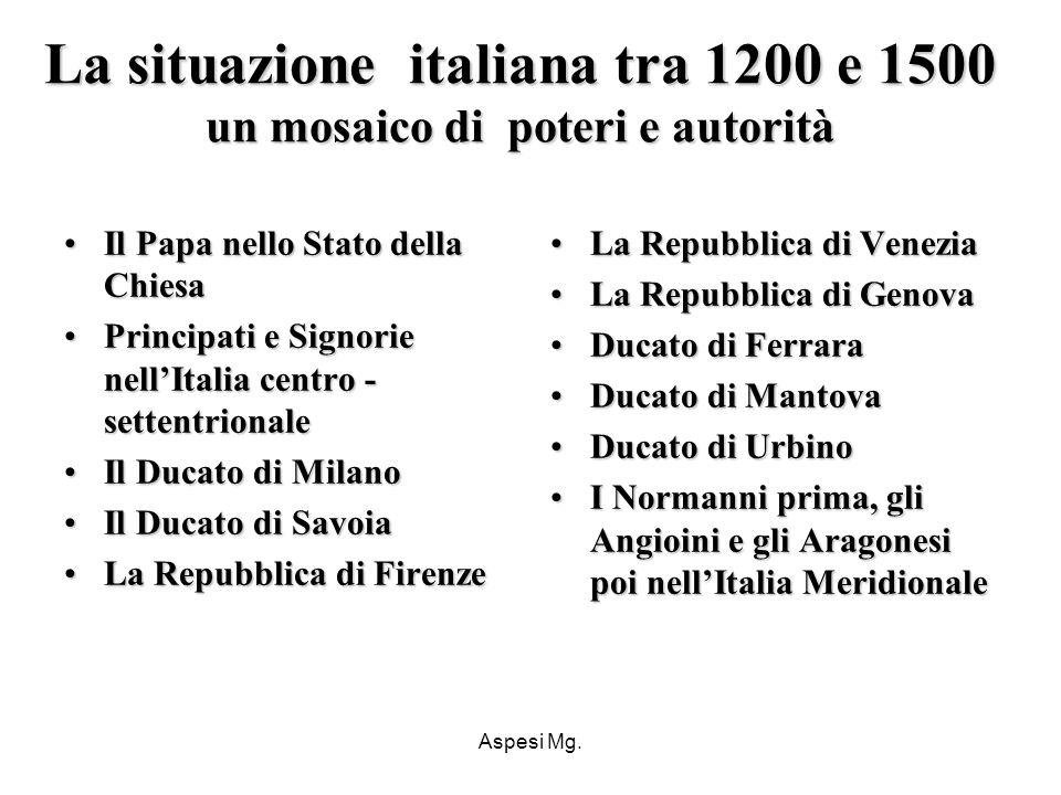 La situazione italiana tra 1200 e 1500 un mosaico di poteri e autorità