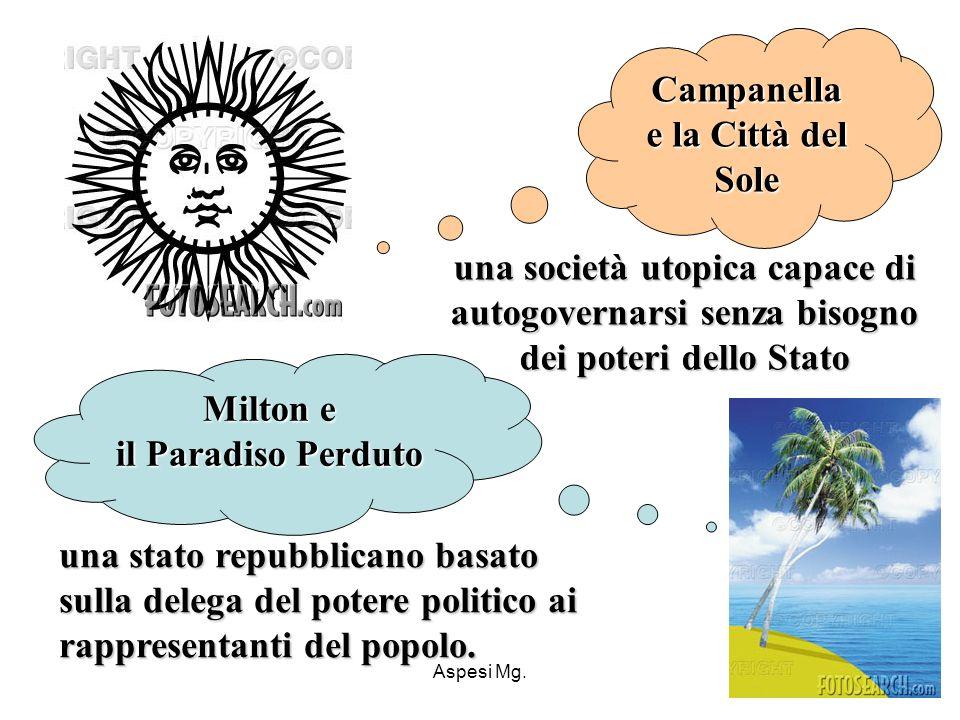 Campanella e la Città del Sole Milton e il Paradiso Perduto