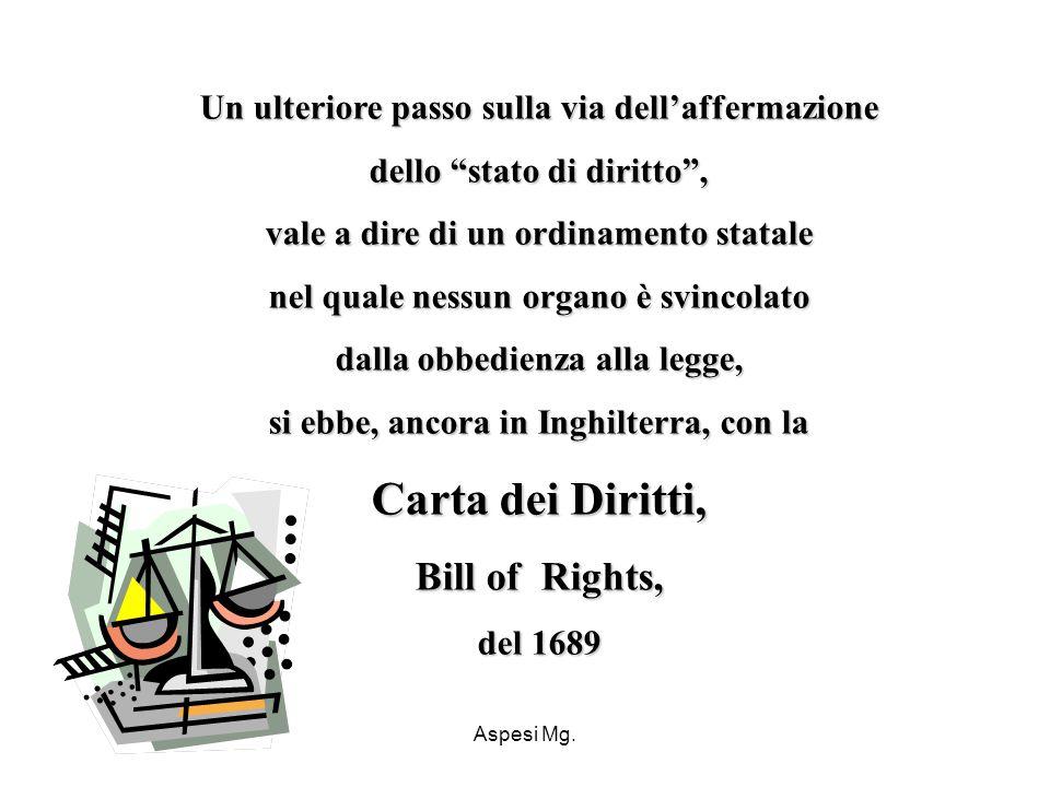 Carta dei Diritti, Bill of Rights,