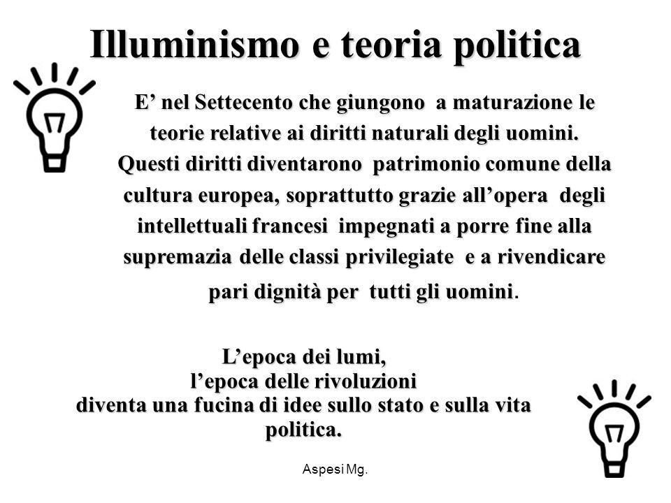 Illuminismo e teoria politica
