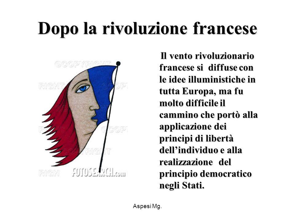 Dopo la rivoluzione francese
