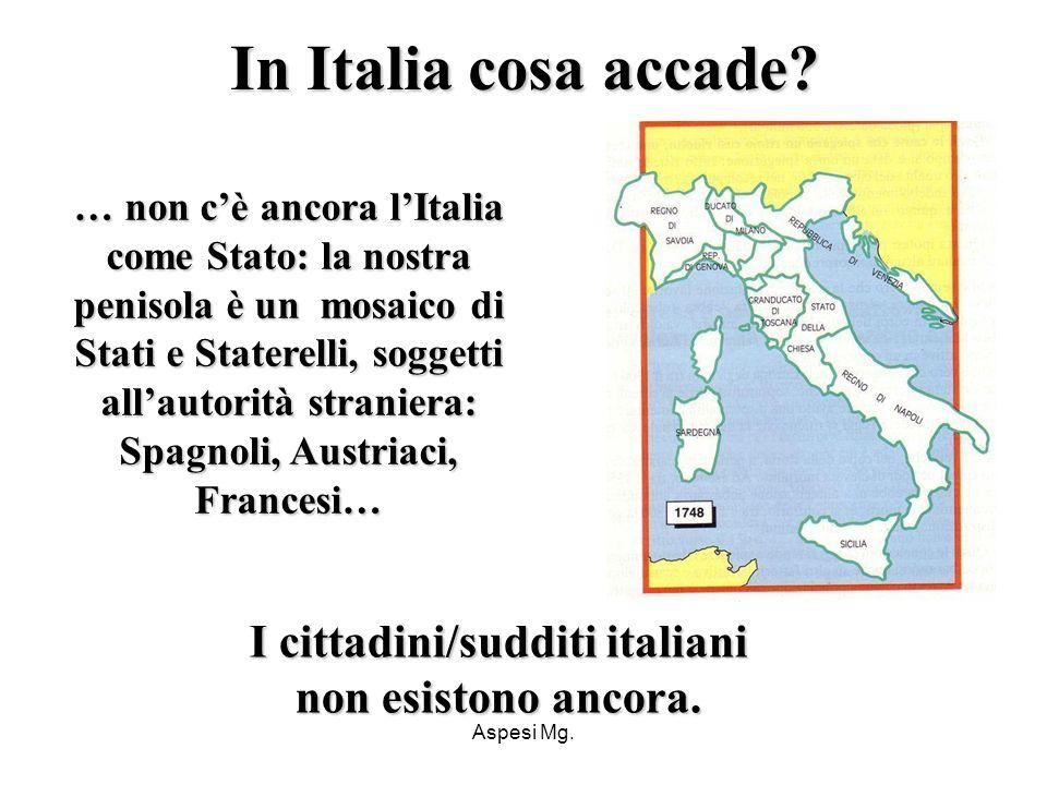 I cittadini/sudditi italiani non esistono ancora.