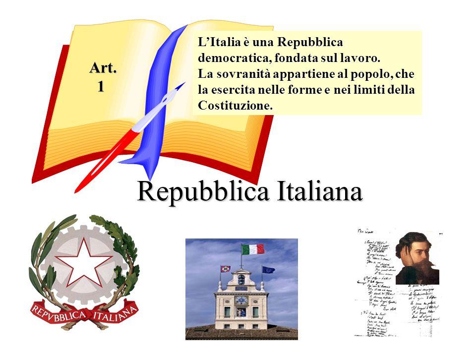 Repubblica Italiana Art. 1