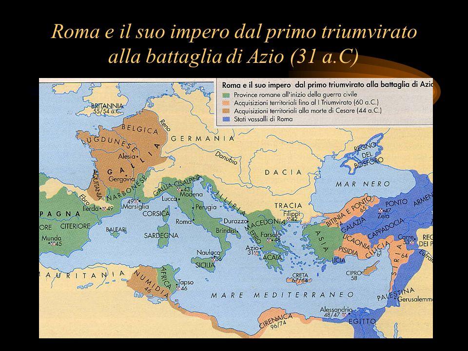 Roma e il suo impero dal primo triumvirato alla battaglia di Azio (31 a.C)