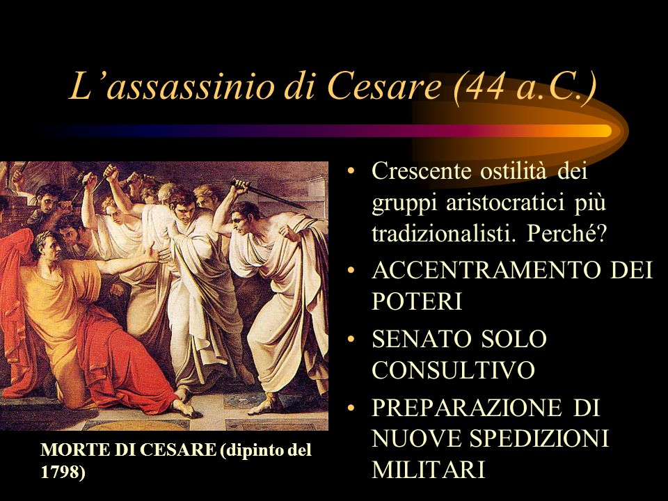 L'assassinio di Cesare (44 a.C.)