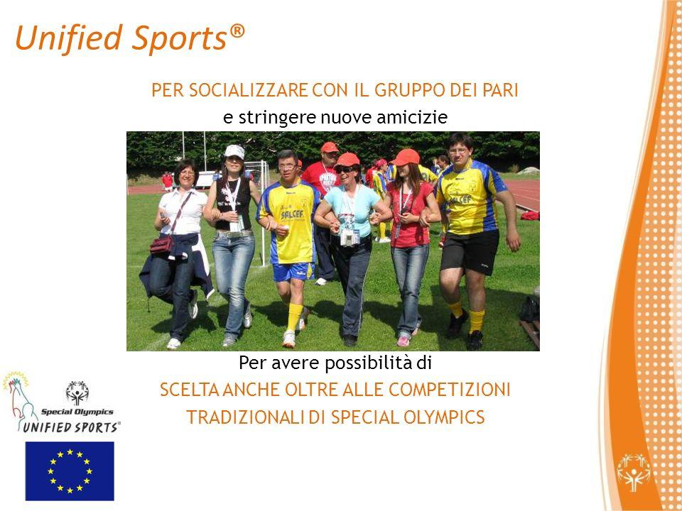 Unified Sports® PER SOCIALIZZARE CON IL GRUPPO DEI PARI