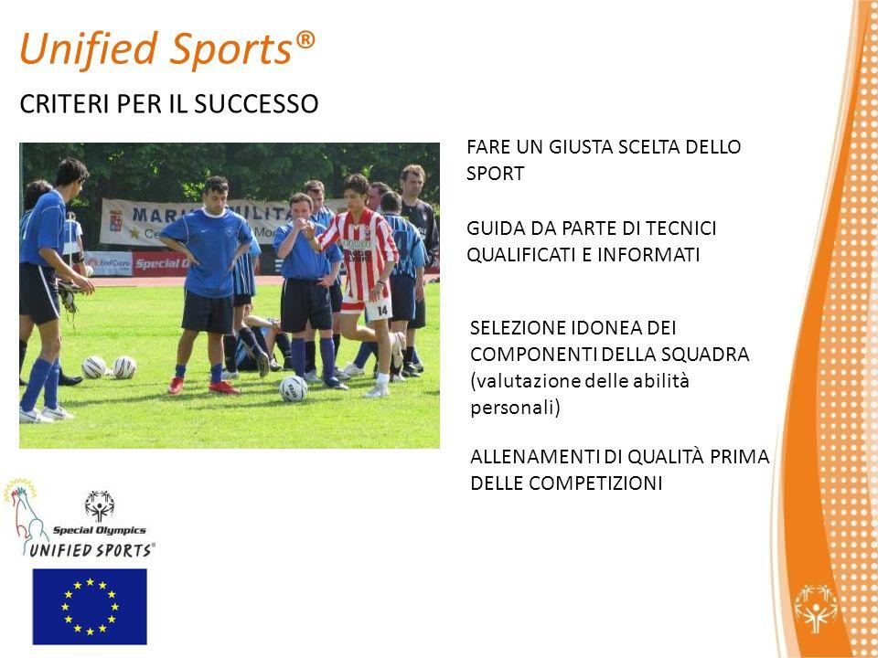 Unified Sports® CRITERI PER IL SUCCESSO
