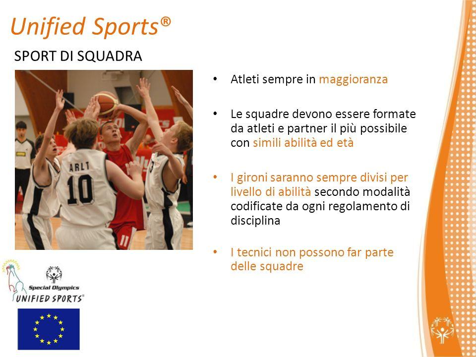Unified Sports® SPORT DI SQUADRA Atleti sempre in maggioranza