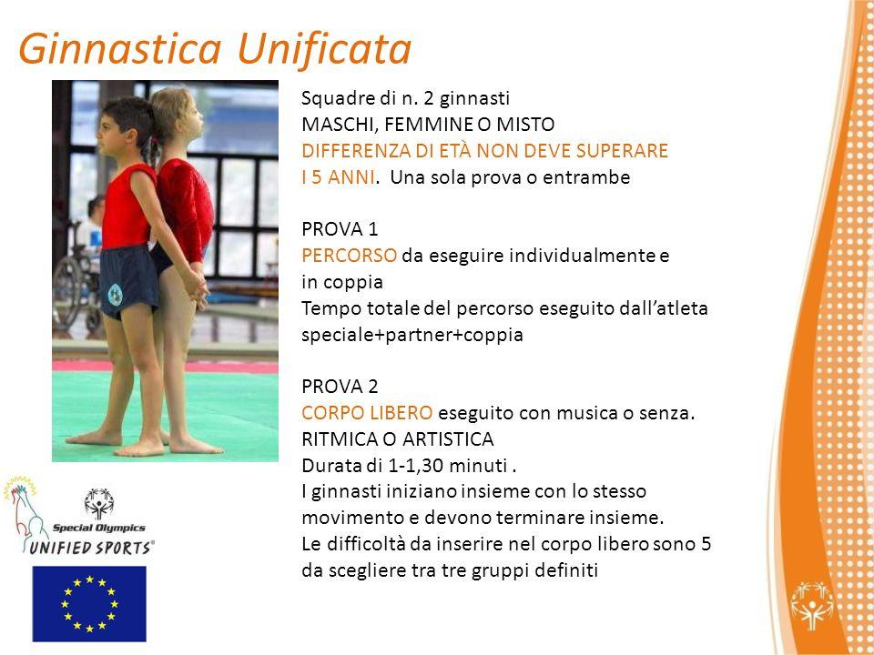 Ginnastica Unificata Squadre di n. 2 ginnasti MASCHI, FEMMINE O MISTO