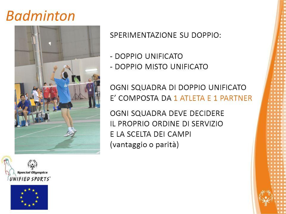 Badminton SPERIMENTAZIONE SU DOPPIO: DOPPIO UNIFICATO
