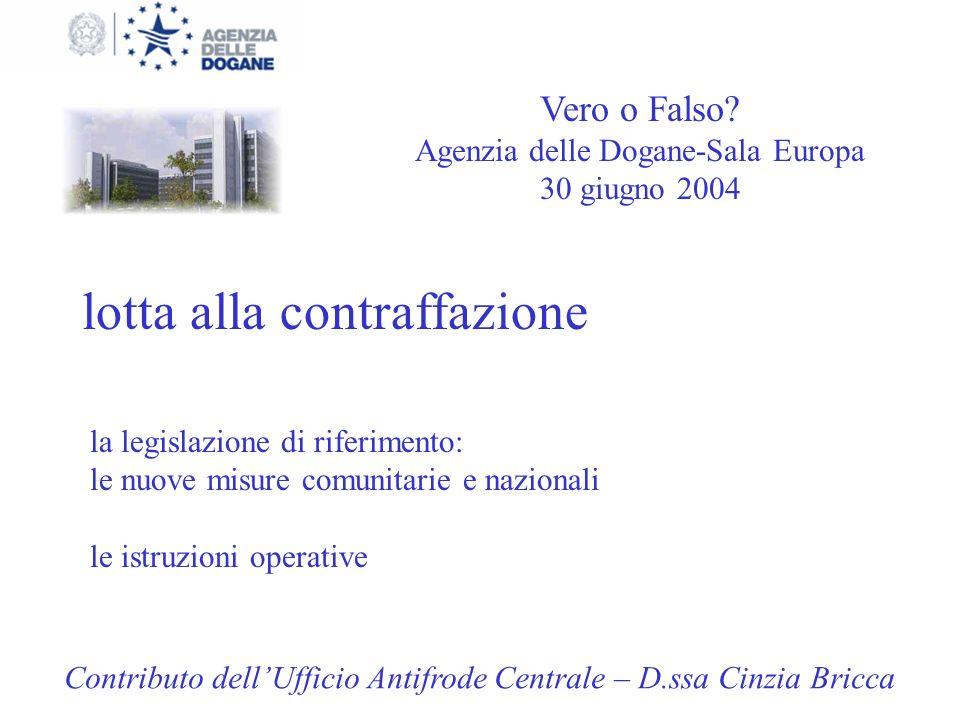 Agenzia delle Dogane-Sala Europa 30 giugno 2004