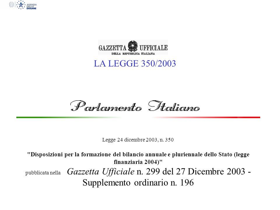 LA LEGGE 350/2003