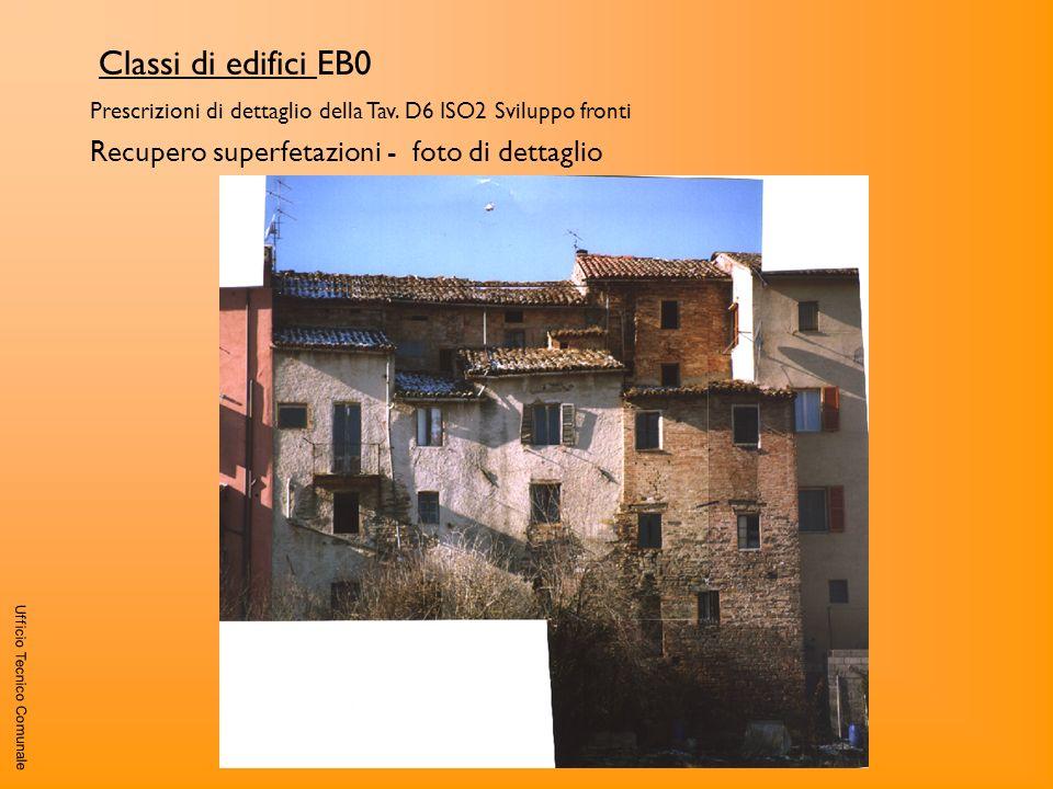 Classi di edifici EB0 Recupero superfetazioni - foto di dettaglio
