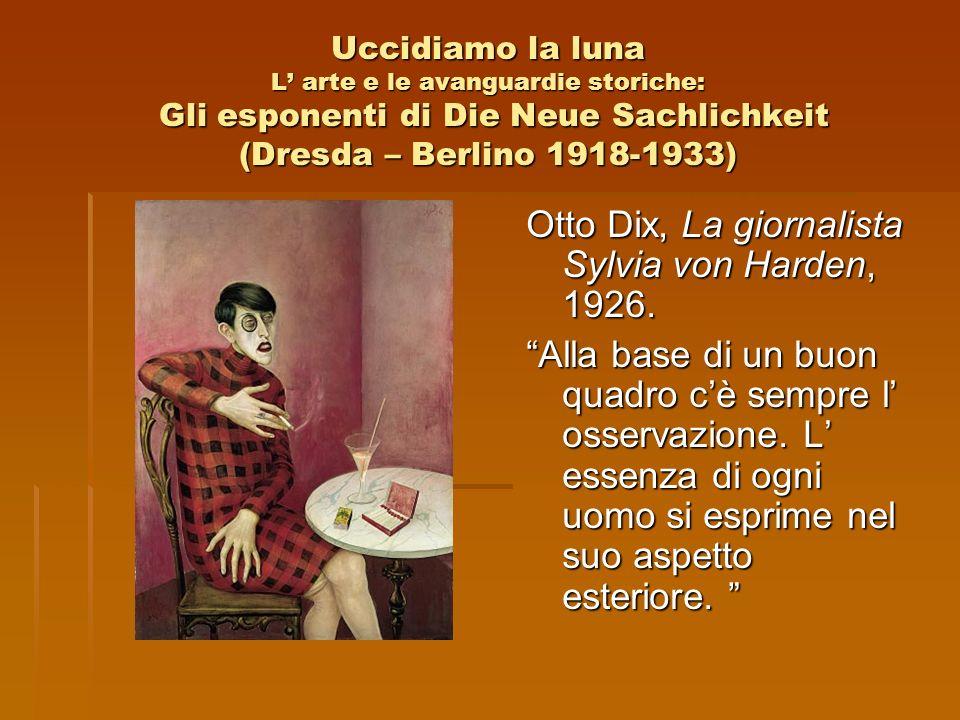 Otto Dix, La giornalista Sylvia von Harden, 1926.