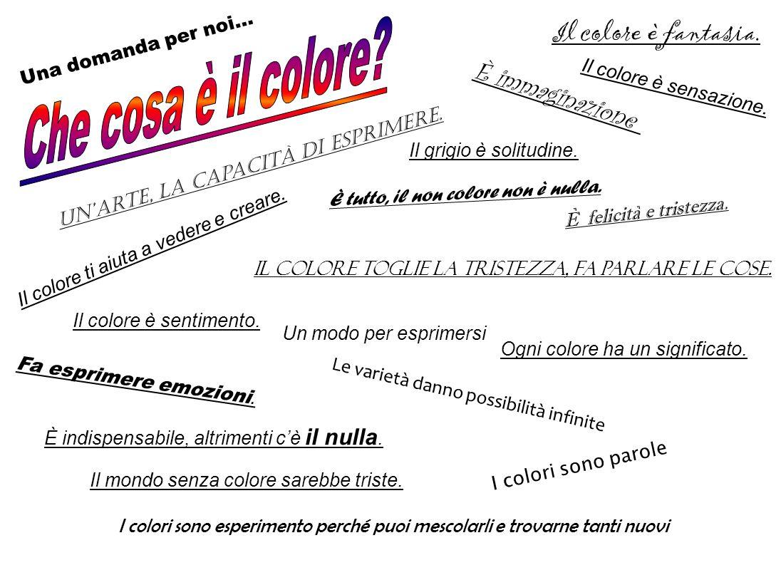 Che cosa è il colore Il colore è fantasia. È immaginazione