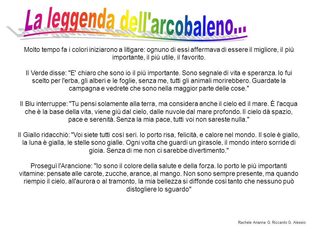 La leggenda dell arcobaleno...
