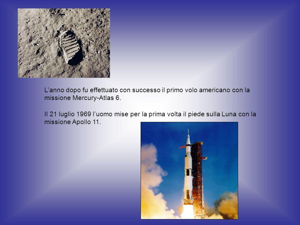 L'anno dopo fu effettuato con successo il primo volo americano con la missione Mercury-Atlas 6.