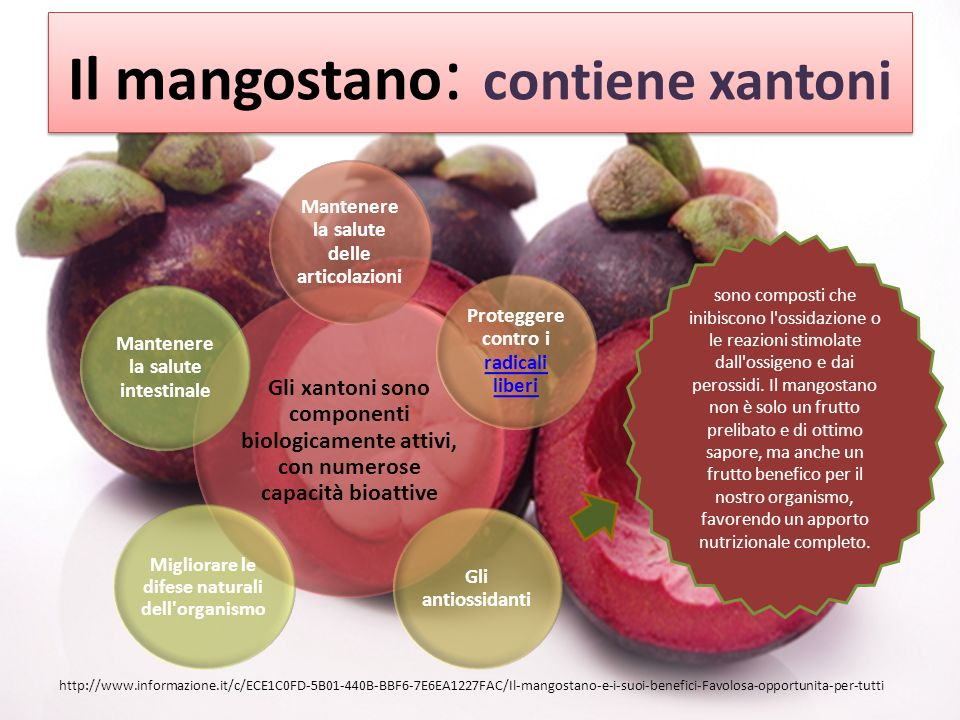 Il mangostano: contiene xantoni