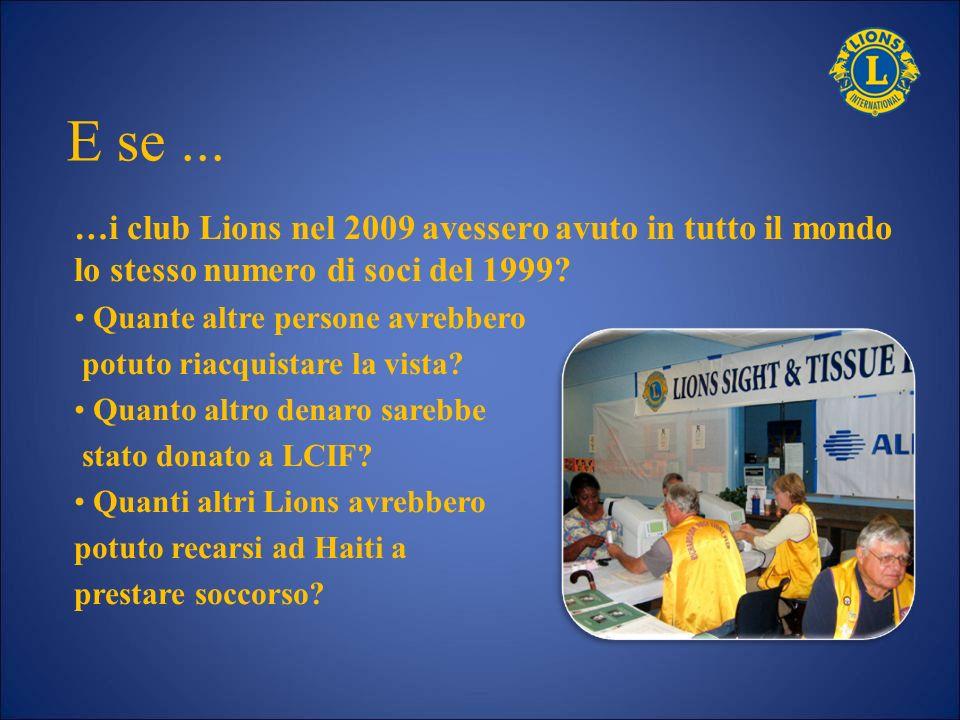 E se ... …i club Lions nel 2009 avessero avuto in tutto il mondo lo stesso numero di soci del 1999
