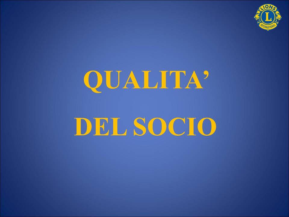 QUALITA' DEL SOCIO