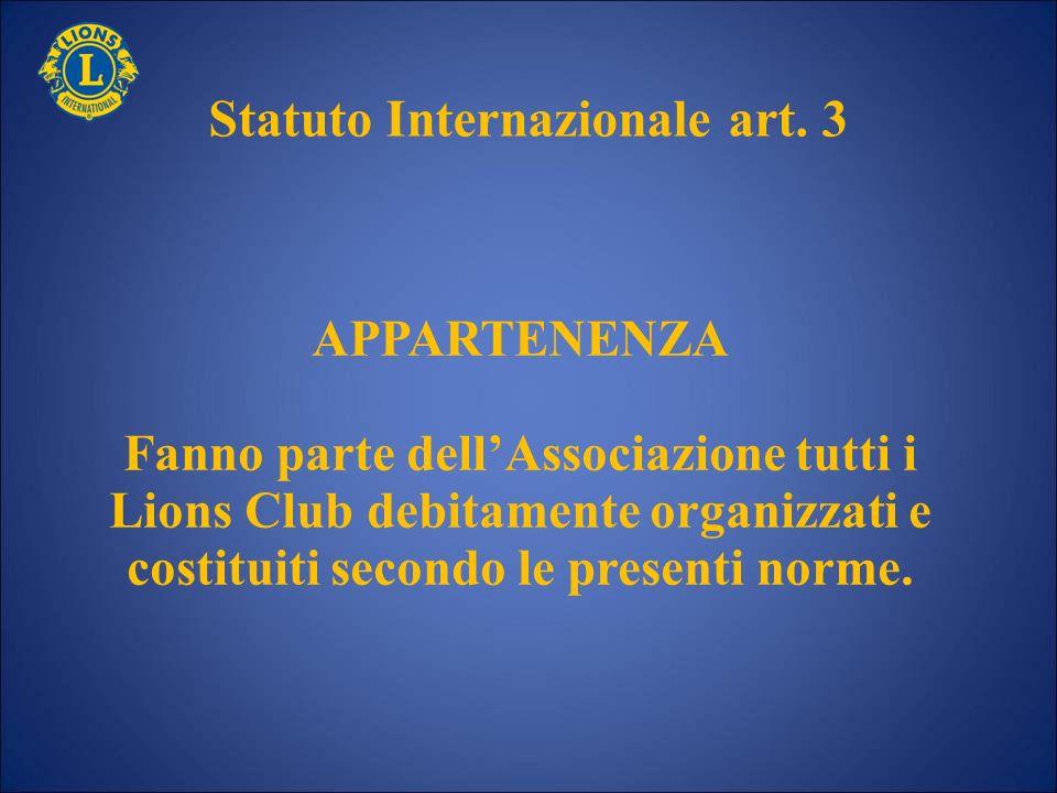 Statuto Internazionale art. 3
