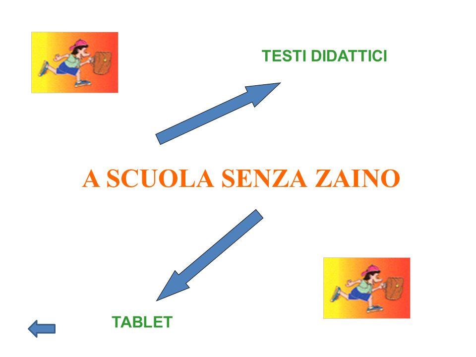 TESTI DIDATTICI A SCUOLA SENZA ZAINO TABLET