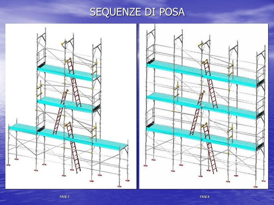 SEQUENZE DI POSA FASE 7 FASE 8