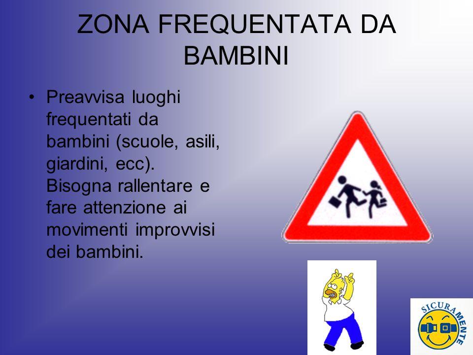 ZONA FREQUENTATA DA BAMBINI