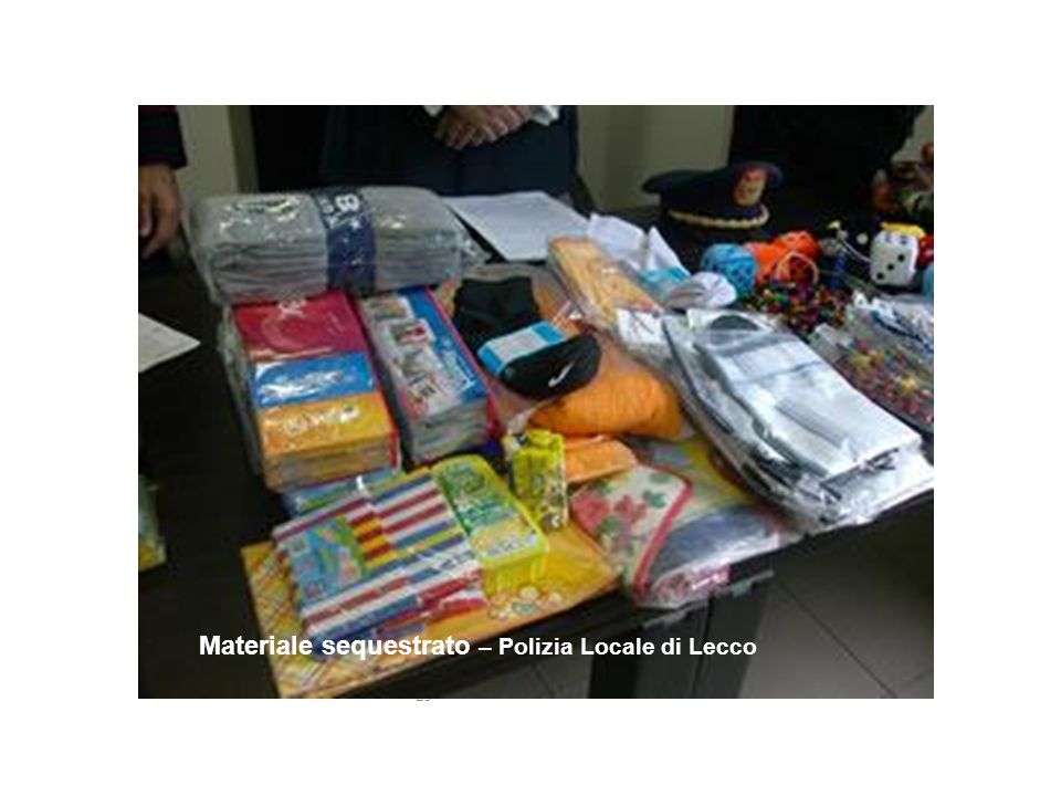 Materiale sequestrato – Polizia Locale di Lecco