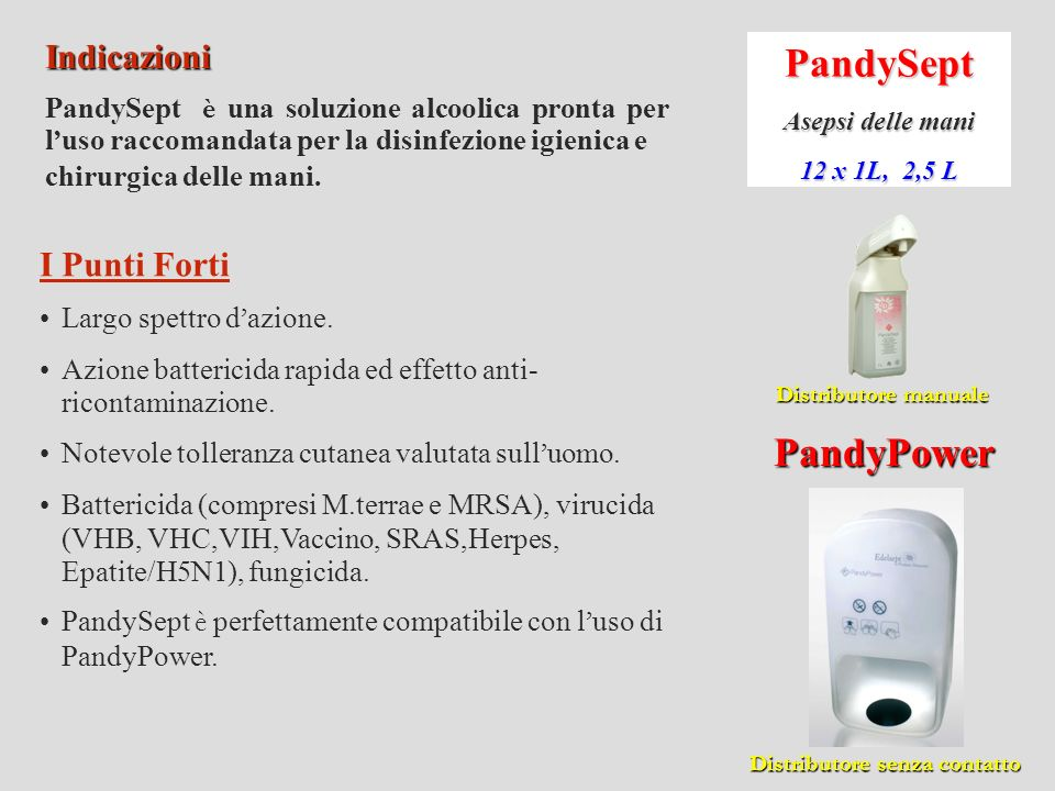 PandySept PandyPower Indicazioni I Punti Forti
