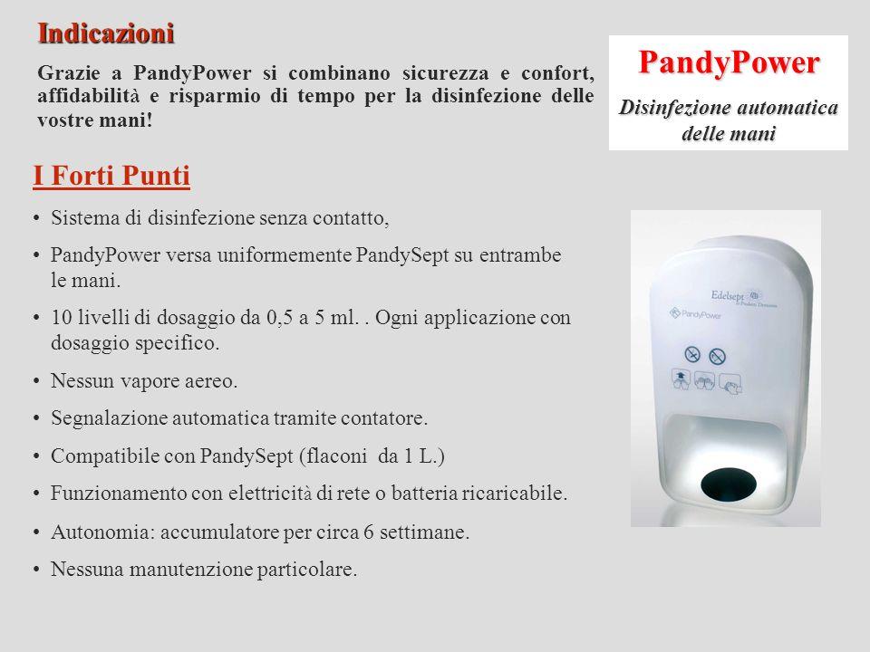 Disinfezione automatica delle mani
