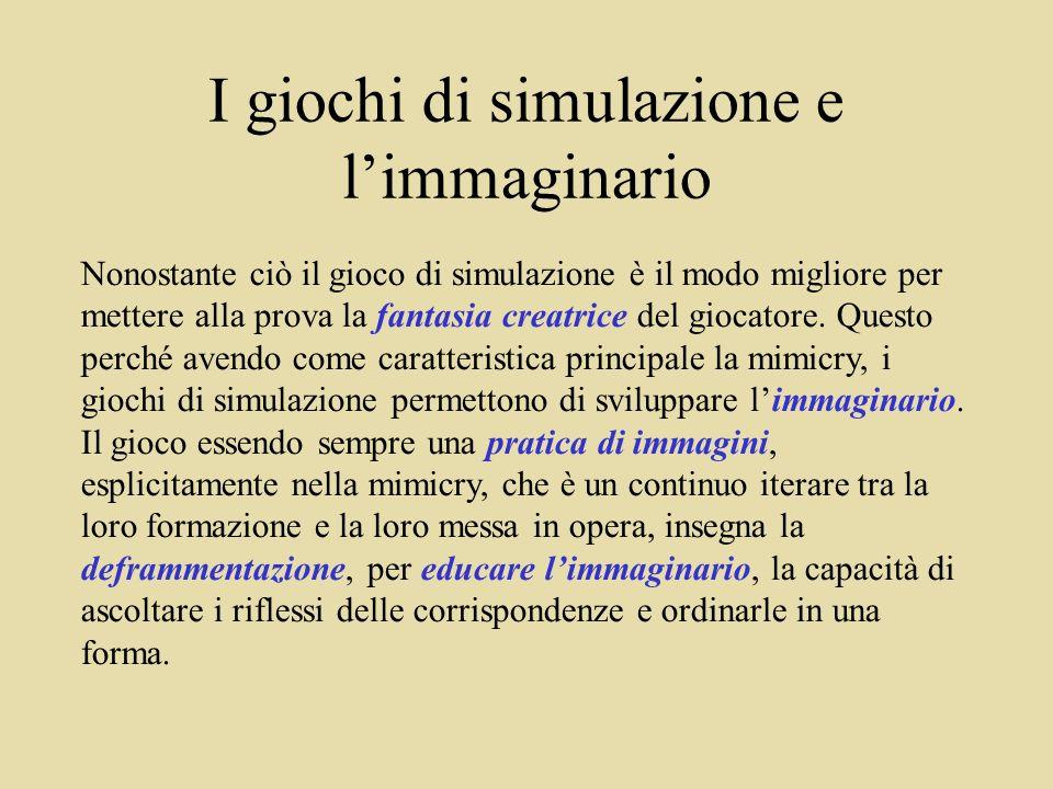 I giochi di simulazione e l'immaginario