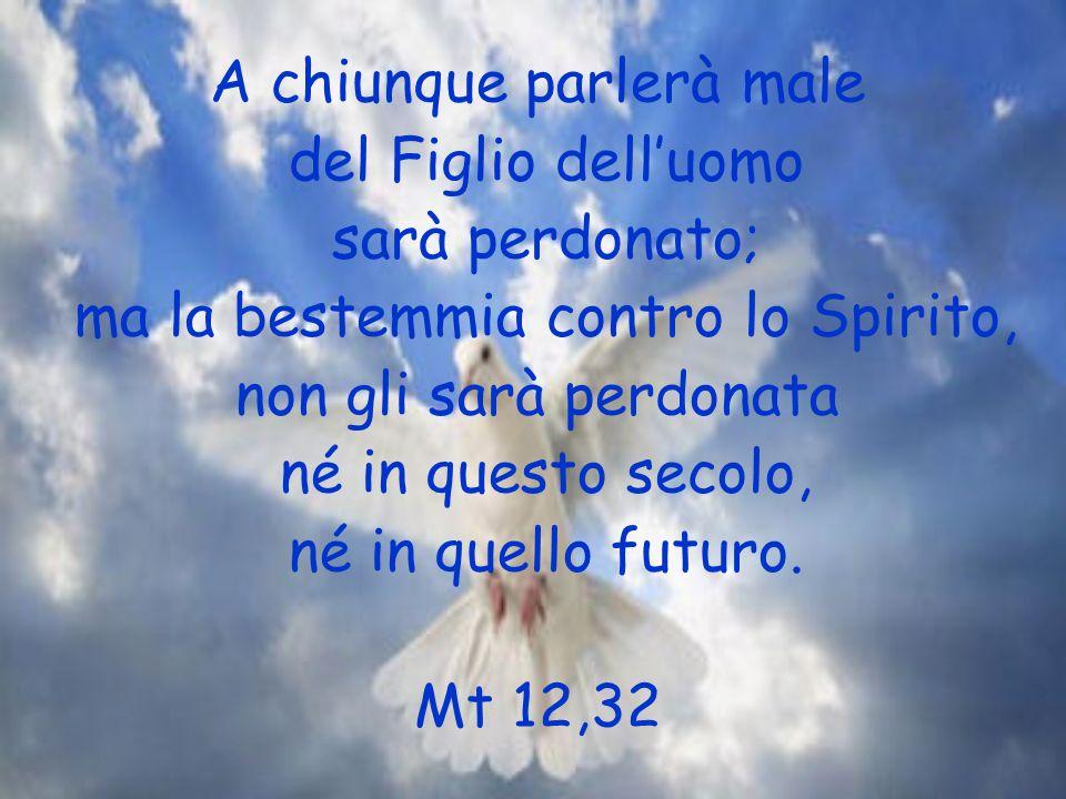 A chiunque parlerà male del Figlio dell'uomo sarà perdonato;