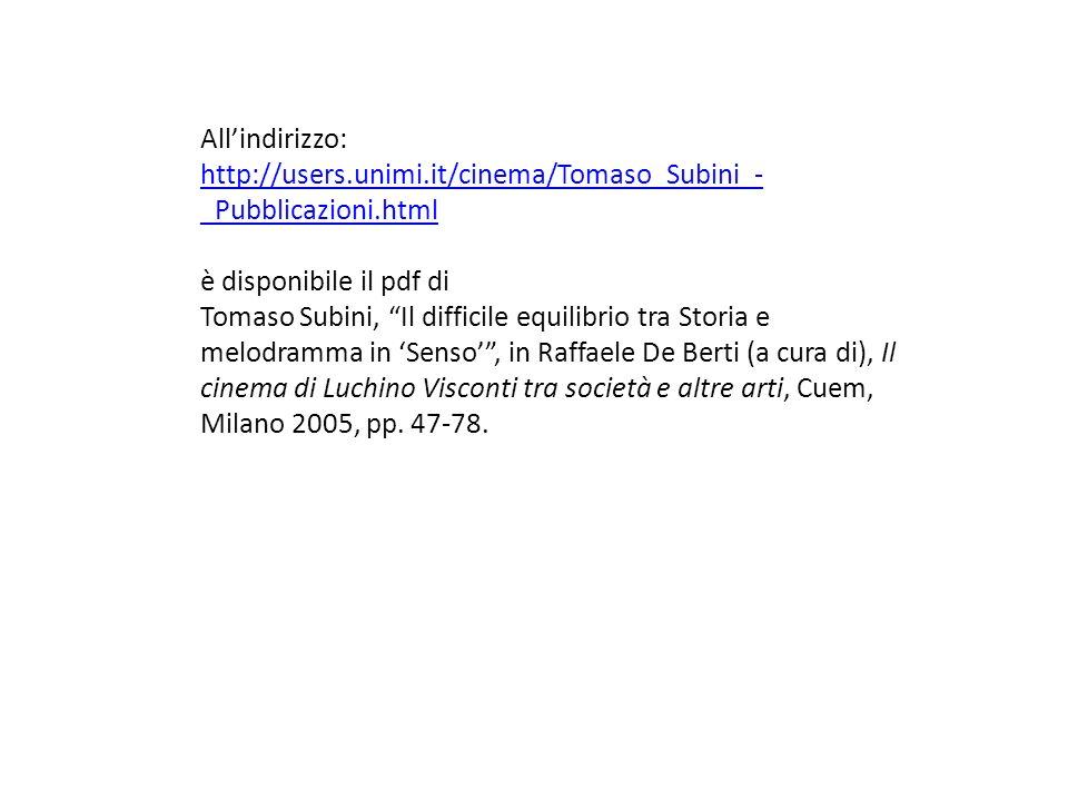 All'indirizzo:http://users.unimi.it/cinema/Tomaso_Subini_-_Pubblicazioni.html. è disponibile il pdf di.