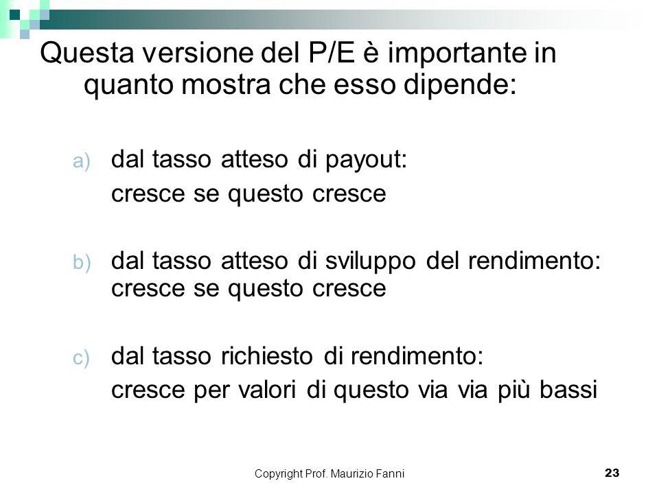 Copyright Prof. Maurizio Fanni