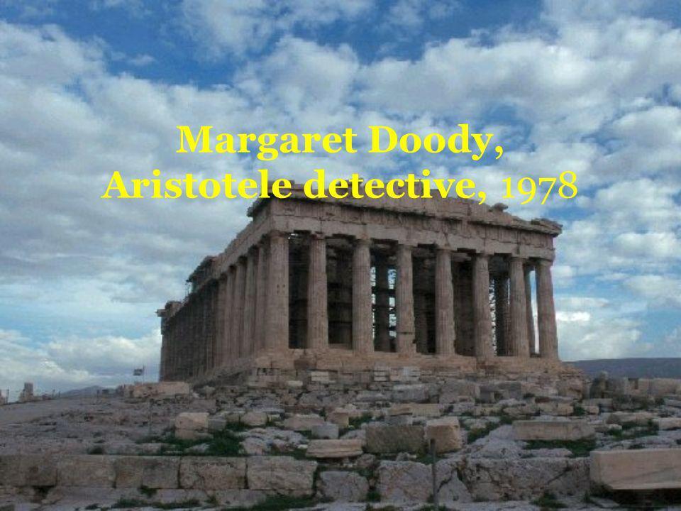 Margaret Doody, Aristotele detective, 1978